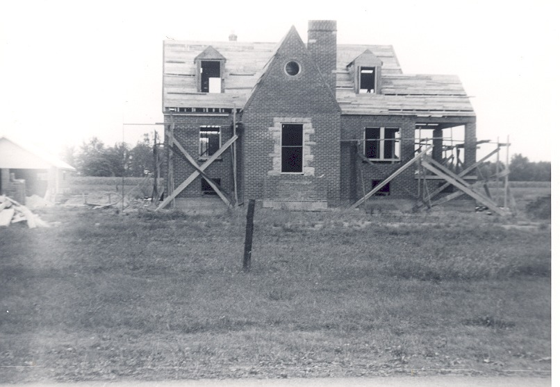 Rebuilding Kasting home at Cortland - completed in 1946.