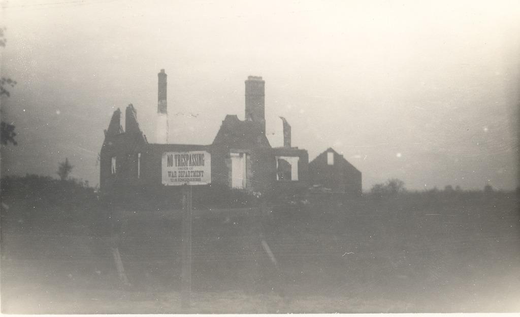 Kasting house being taken down at Freeman Field.