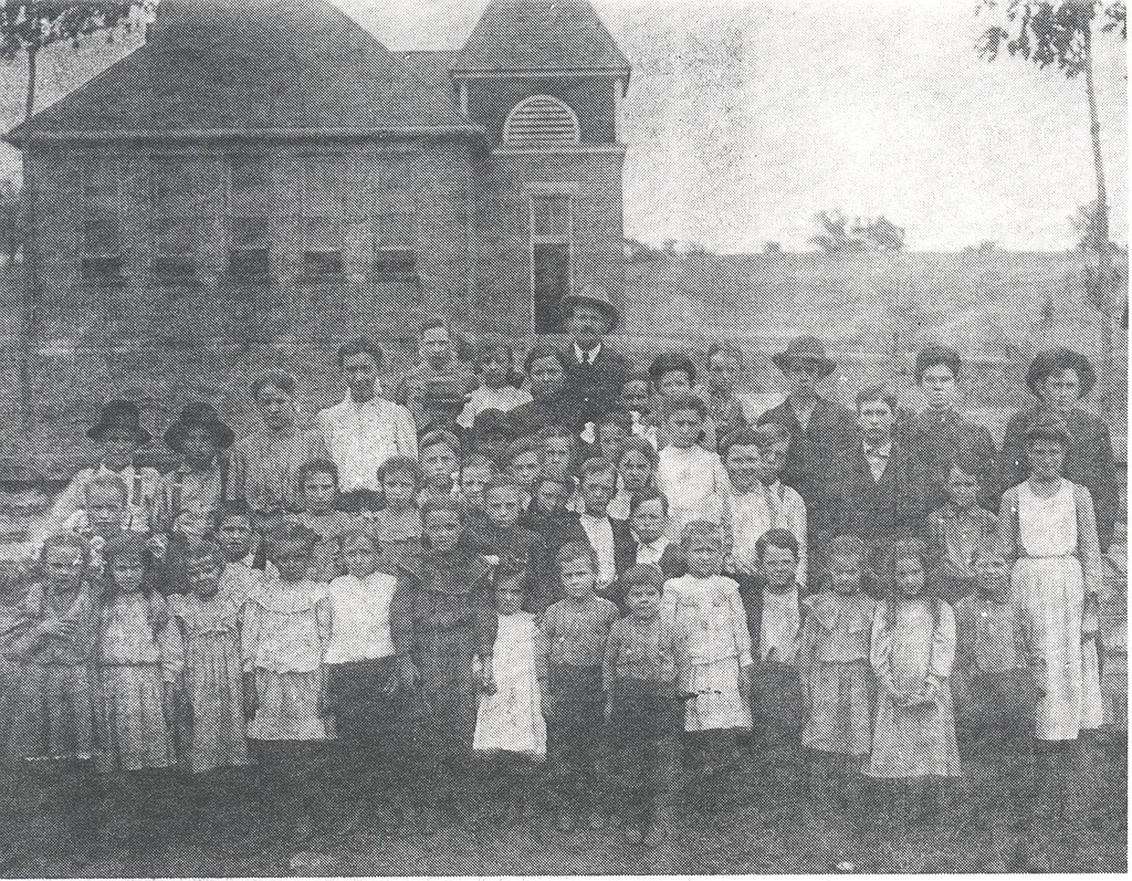 1906-1907 Sparksville Grade School - from Paul Carr, bw 6.9x5.38