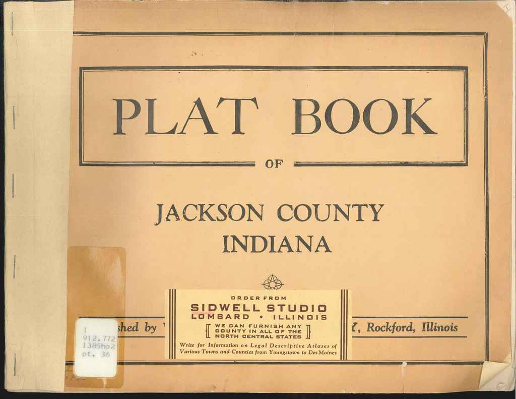 Sidwell Plat Book of Jackson County Cover - from Indiana State Library