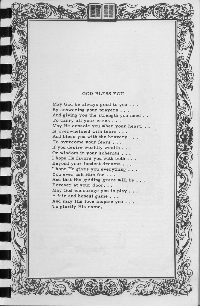 Prayer by C.W. Taylor. Vallonia Methodist  Church Messenger of 1950. - from Fort Vallonia Museum, 5.38x8.23 bw