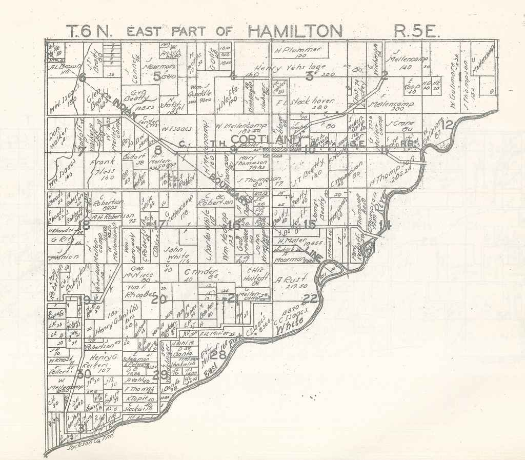East part of Hamilton Township