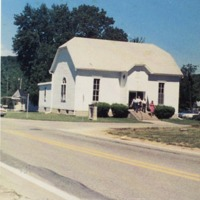 Acme United Methodist Church from the 1989 Church Directory. - from Orville R. Mann,  color 2.85x3.11