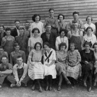 Freetown School, Freetown, IN. - from Freida Duchaine, bw 7.12x5.03
