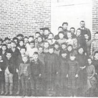 Weddleville School group, date unknown, courtesy of Mrs. Mable Weddle. - from Paul Carr, bw 6x 3.42