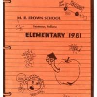 Margaret R. Brown Elementary School Yearbook 1980-81