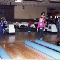 Christina Reynolds, Brownstown, bumper bowling, - from the Brownstown Banner, 4.90 x 3.46, color