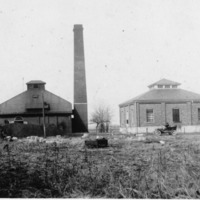 Indiana-American Water Co. Inc., Seymour District, P. O. Box 253, Seymour, IN. Pump house at Rockford in the  1920s. - from Elaine Allman, bw 6.56x3.96