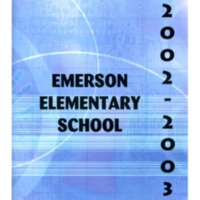 Emerson Elementary Yearbook 2002-2003