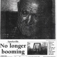 Tribune article on the memories of Raymond Huffman of Sparksville, IN