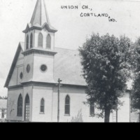Union Church, Cortland - from Sara Marling Lucas, bw 4.84 x 3.21