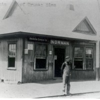 Norman Station, Comp. of Freeman sons - from Sara Marling Lucas, bw 6.54 x 4.55