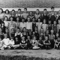 October 3, 1934, unidentified class, school #5966 - from Elaine Allman, bw 6.56x9.76