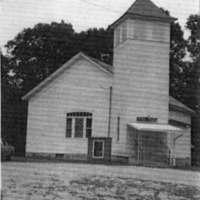 Wray's Church, Owen Township, Jackson County, IN. - from Winfred (Bud) Cornett, bw 3.53x4.85