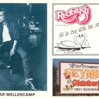 John Cougar Mellencamp. Photo taken by Mitchell Color Cards, Petoskey, MI - Ida and Kenny Wehmiller, C-5.46x3.46