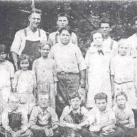Weddleville 8th Grade Class, 1916. - from Paul Carr, bw 5.8x3.57