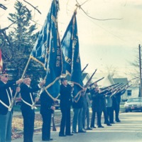 American Legion and VFW  Color Guard - from the Seymour Tribune, C  8.76x5.86