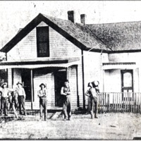 Dudleytown Saloon at the turn of the century, located at the west corner of what is now 11 and 250. Owned by August V. Goecker, it is now the home of his son, Paul. Photo provided by Lambring Co. Store in Dudleytown. - from Jackson County Historical Society