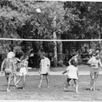 Starve Hollow volleyball - from the Brownstown Banner, 4.90 x 3.20, bw