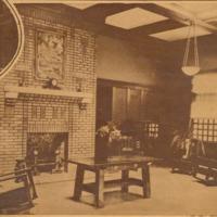 Reception room at Farmer's Club, Seymour, Indiana