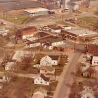 Aerial view of Ewing, 1977, Aerial Survey- Henry DeWolf, 106 Silverdale Dr., Rochester, N.Y.14609