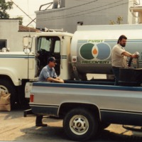 First Recovery fuel truck - from the Brownstown Banner, 4.93 x 3.44, color