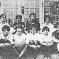 1926 Girls Basketball Team - Tampico High School. first row L-R: Ruth Cooley, Florence Johnson, Dorothy Cunningham, Anna Morgan, Francis King, Ida Marie Shirley, Coreen Henderson, Dorothy Smith. 2nd: Cordey Morgan, Reta Gregory, Bernice Henderson, Mildred Collins, Edith Wolf, Gladys Shutters. - from Doris Lee, bw 5.29x2.83