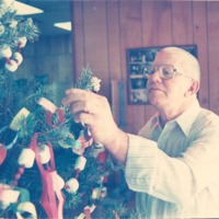 Robert? Wray Senior Citizens Center with Christmas Tree - from the Seymour Tribune, C 6.50x5.98