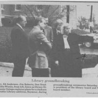 Library Groundbreaking in Seymour IN