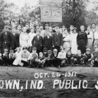October 26, 1917 Freetown, Indiana Public School - Ralph R. Goss, Supt. Mack Foto, Seymour, IN - from Winfred (Bud) Cornett, bw 2.94x10.02