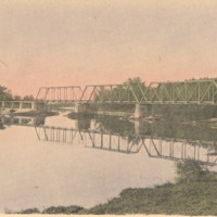 Penn Railroad Bridge over White River - from Ida and Kenny Wehmiller, C- 5.37x3.17