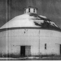 Round Barn located south of Vallonia.