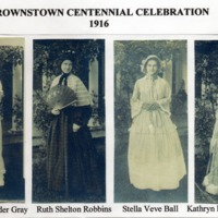 Centennial 1916 Brownstown - from Jackson County Historical Society