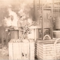 Fitzpatrick Smelters, man unknown - from the Seymour Tribune
