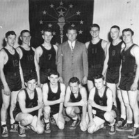 Medora Hornets - 1949 Sectional Champs - from Paul Carr, bw 5.75 x 3.75