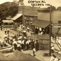 Centennial Street Fair at Vallonia Indiana in 1913. (William McMillan lower left)