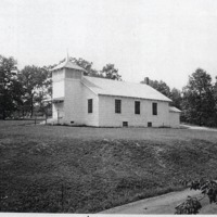 Mt. Zion Church. - from Winfred (Bud) Cornett, bw 3.83x3.15