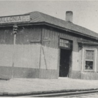 Vallonia Station / Depot  - from Sara Marling Lucas, bw 4.58 x 2.66