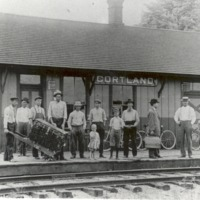 Cortland Depot, ca 1920. - from George Polly, bw 6.5x4.4