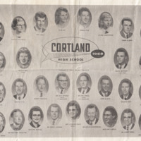 Class photo of Cortland High School 1958 Graduating Class