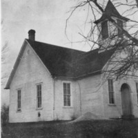Possibly the Ackeret Church - from Elaine Allman,  bw 3.05x3.98