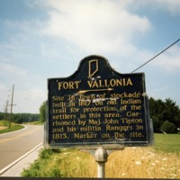 Fort Vallonia sign on State Road 135, Vallonia, IN. From E.M. Smith. - from Fort Vallonia Museum, 4.92x3.48 color