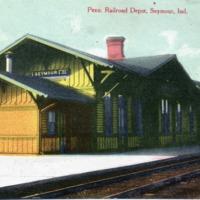 Pennsylvania Railroad Depot, Seymour in early 1900s - from Garvin Jennings