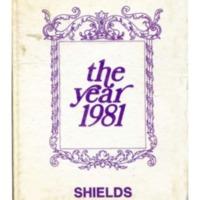 Shields Junior High School Yearbook 1980-1981