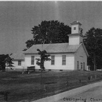 Clearspring Church in Clearspring, IN. - from Winfred (Bud) Cornett, bw 4.8x3.5