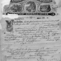 Discharge dated 1865 for George Jones. - from Jeanette Stout,  8 1/2 x 11, bw