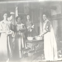 Ladies in laundry room at Allendale - from Jackson County Historical Society