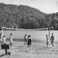 Beach volleyball, Starve Hollow, - from the Brownstown Banner, 5.75 x 9.30, bw