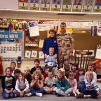 Classroom welcome home for Brian - from the Brownstown Banner, 4.92 x 3.44, color