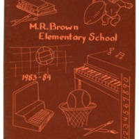 Margaret R. Brown Elementary School Yearbook 1983-1984
